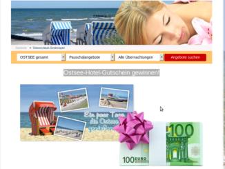 Ostseeurlaub Gewinnspiel